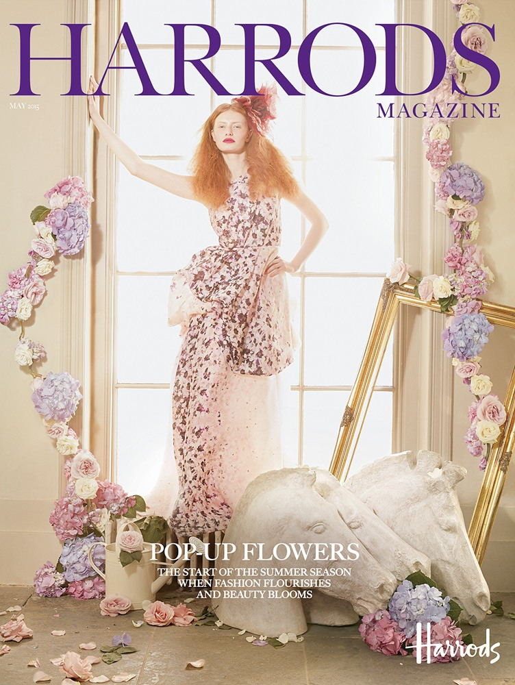 Harrods Magazine, Tale of the Flower Girl, editorial shoot